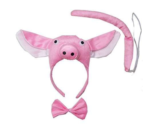 Kirei Sui Pig 3D Headband Costume Set]()