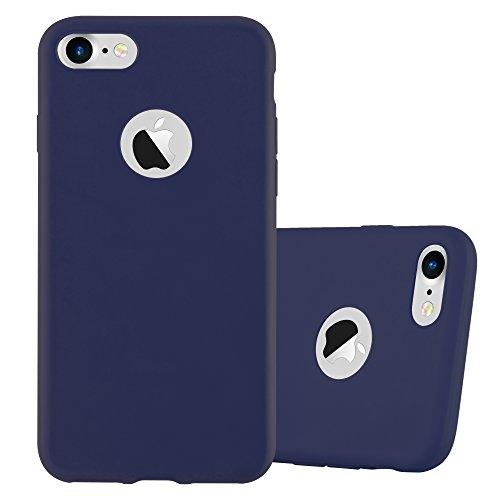 Cadorabo - Cubierta protectora para >                          Apple iPhone 8 / 7 / 7S                          < de silicona TPU en diseño Candy �?Case Cover Funda Carcasa Protección en AZUL-CANDY AZUL-OSCURO-CANDY