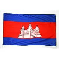 Cambodia Flag 3' x 5' - Cambodian Flags 90 x 150 cm - Banner 3x5 ft Light Polyester - AZ FLAG