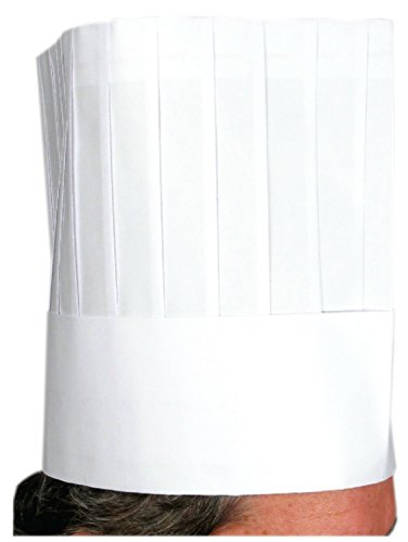 Winco Disposable 12-inch Paper Chef's Hat (10 Pcs/Bag) (2-Pack) (12 Inch Chef Hats)
