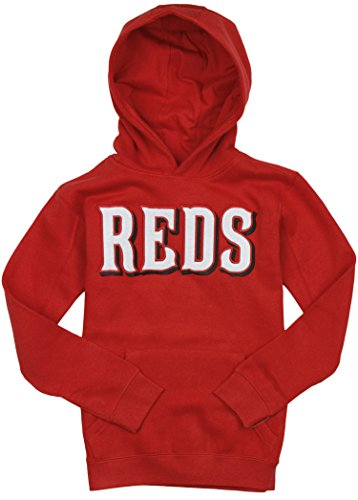 Majestic Cincinnati Reds MLB Big Boys 300 Hitter Hoodie - Red (Large (14/16))