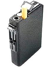 حافظة سجائر مدمجة للجيب بولاعة غاز بيوتان تتميز بخاصية اخراج اوتوماتيكي للسجائر