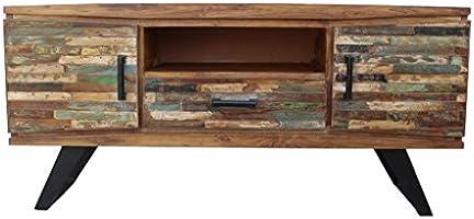 Stin Mueble TV madera reciclada, acabado antiguo mueble House: Amazon.es: Hogar