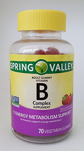 Spring Valley B Complex Supplement Energy Metabolism Support, 70 Vegetarian Gummies (Spring Valley B Vitamin)