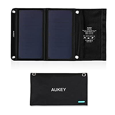AUKEY Universal 14W Solar Charger with 2 USB Ports and SunPower Solar Panels by AUKEY