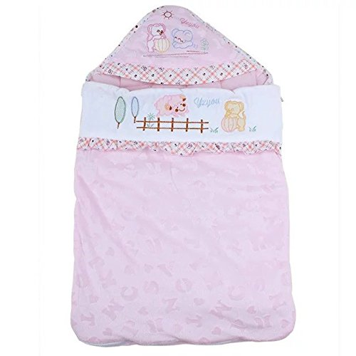 Sealive Adjustable Toddler Sleeping Bags Infant Swaddle Wrap Blankets,Pink For 6-18 Months - Microfleece Adjustable Infant Wrap