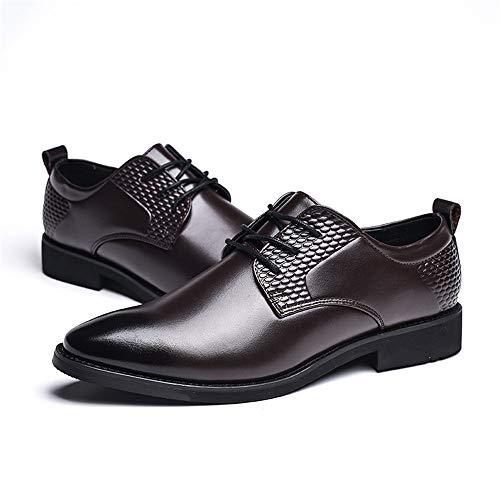 con uomo compagnia Jiuyue Scarpe per 2018 camminare scarpe in Color da vivere Nero e punta Oxford Uomo Pelle Top shoes traspirante rotonda uomo Dimensione formali Reparto Low a EU Marrone da casa 42 TzxPgrqnT