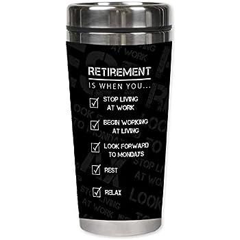 Amazon.com: Taza de viaje Retirement Blessings: Kitchen & Dining