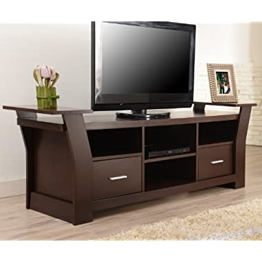ioHOMES Torena Multi-Storage TV Stand, Walnut