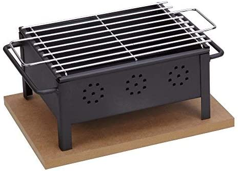 Sauvic 02905 Barbacoa SOBREMESA 25X20 con Parrilla Inoxidable 18/8 ...