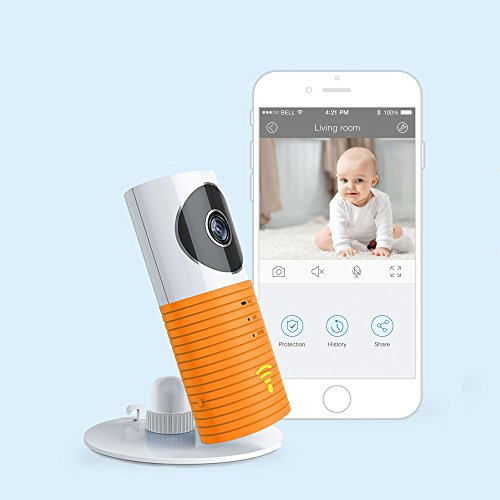 JTD Smart Wireless IP WiFi DVR Security Surveillance Camera with Motion Detector Two-way Audio & Night Vision Best Security Camera Baby Monitor for your Baby,Home, Pet or Business (Orange) by JTD