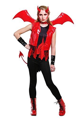 Demon Fire Girls Costume Large ()