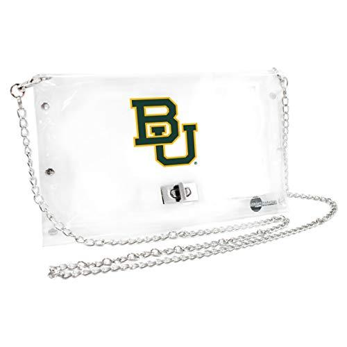 Littlearth Baylor University  NCAA Envelope Purse, Clear  - 10 x 0.5 x 6.5 - Inch