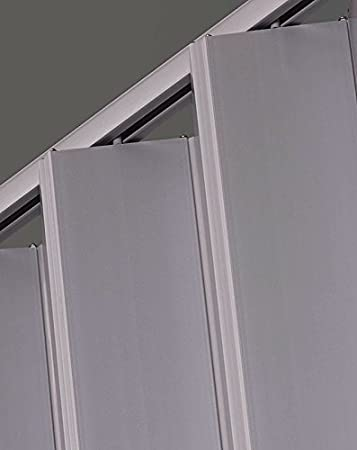 LTL Home Products EL4896S Elite Interior Accordion Folding Door 48 x 96 Inches Satin Silver