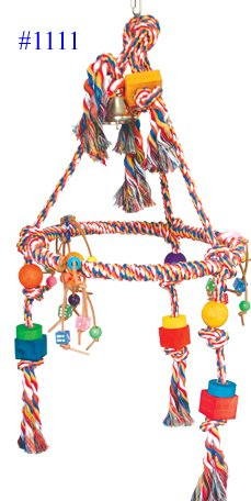HUGE PYRAMID ROPE RING SWING BIRD TOY parrot cage toys cages macaw amazon, My Pet Supplies