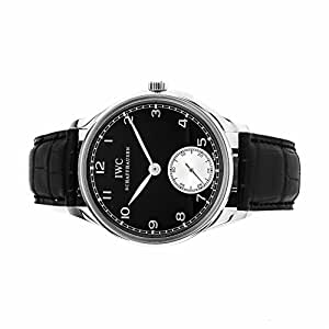 IWC Portugieser Hand-Wound mechanical-hand-wind mens Watch IW5454-04 (Certified Pre-owned)