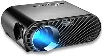 Projector, GooDee Upgraded +35% Lumens LCD Video Projector 180