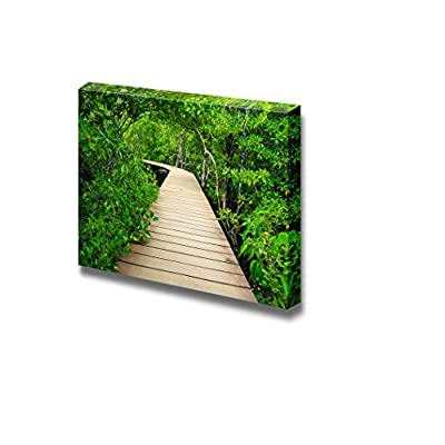 Canvas Prints Wall Art - Wooden Bridge to The Jungle, Tha Pom Mangrove Forest, Krabi,Thailand| Modern Home Deoration/Wall Art Giclee Printing Wrapped Canvas Art Ready to Hang - 12