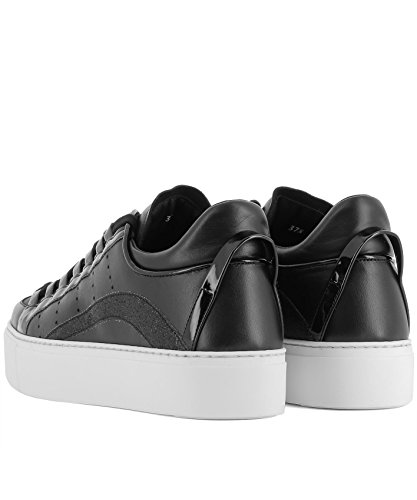 Sneakers Donne Delle In Dsquared2 Snw000306500276m084 Dsquared Pelle Nera T61W5xanqp