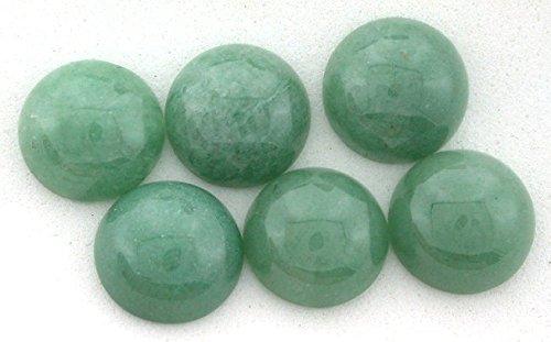 Three 12mm Round Green Aventurine Cabochon Gem Gemstone - Cabochon Gems Aventurine