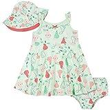 Gerber Baby Girls' 3-Piece Sundress, Diaper Cover