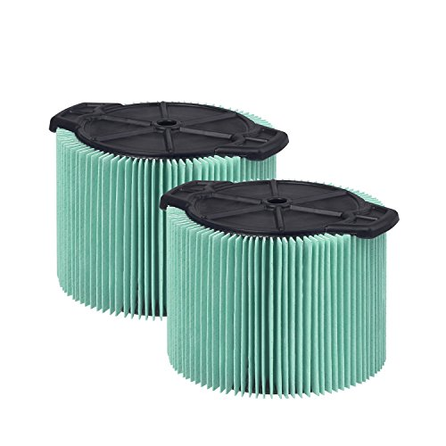WORKSHOP Wet Dry Vacuum Filters WS13045F2 HEPA Media Filter For Shop Vacuum Cleaner (2-Pack - HEPA Media Filter For Wet Dry Vacuum Cleaner) Fits WORKSHOP 3-Gallon to 4-1/2-Gallon Shop Vacuum Cleaners ()