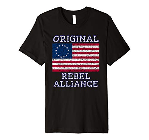 Betsy Ross Rebel July 4th American Pride Flag 1776 Retro Premium T-Shirt