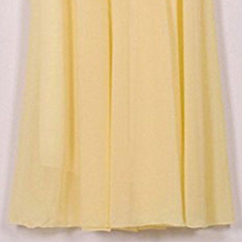 Plisse Femme Jupe lastique Couleurs Jupe Jaune Patineuse Oudan Soie Haute Longue Couches Double Taille en Mousseline de Taille Jupe Varies w55Z6RqvP