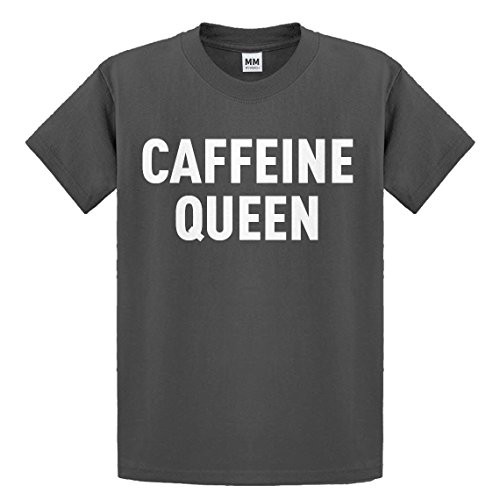 Indica Plateau Youth Caffeine Queen X-Small Charcoal Grey Kids T-Shirt