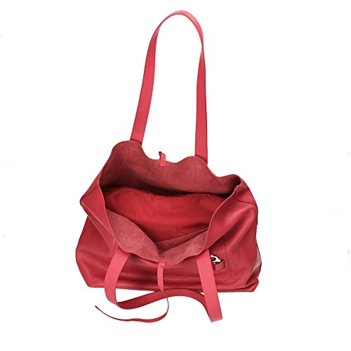 Patrizia Pepe Leather Easy Lock Sac à main rouge
