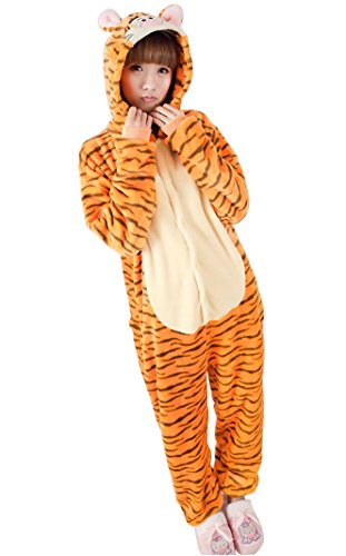 Adult long-sleeved flannel Tigger piece