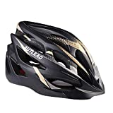AUTLEAD Bike Helmet, Adult Helmet with Safety Rear Led Light and Detachable Liner, Adjustable Sport Cycling Helmets for Road & Mountain (22-24inches)