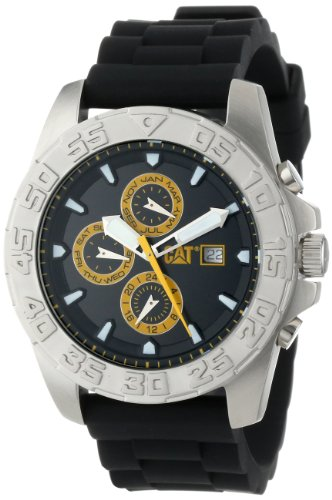 CAT WATCHES Men's PN14921124 DPS Multi-Function Black and Yellow Analog Watch