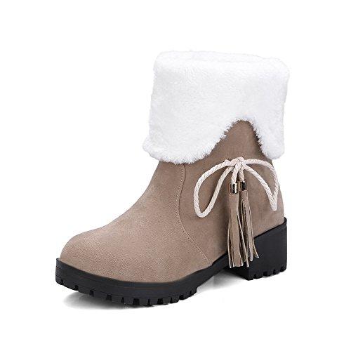 Sconosciuto 1TO9Mns02472 - Stivali da Neve Donna, Oro (Apricot), 35