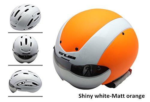 Gub TT Triathlon/Time Trial TT Aero Helmet Aerohead MIPS Road Bike Cycling Helmet Shiny white-Matt orange