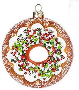 Fake Donut Doughnut Red Green Christmas Holiday Decor