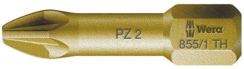 Wera 855//1 TH Pozidriv Torsion PZ2 Extra Hard Insert Bit 25mm Pack 10 WER056915