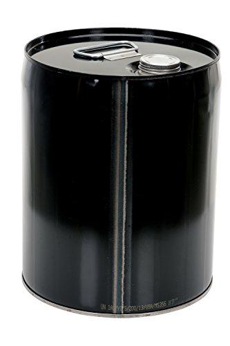 Closed Head Steel Drums (Vestil PAIL-STL-C5-UN100 Closed Head Steel Pail, Black,  Rated UN 1A1/Y1.5/100)
