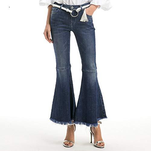 MVGUIHZPO Jeans Femme Damenjeans, Schlaghosen, Taillen- und Hfthosen. XS
