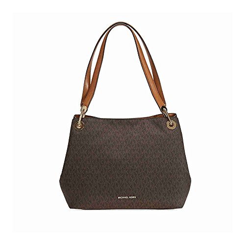 MICHAEL Michael Kors Raven Large Shoulder Tote (Signature Brown)