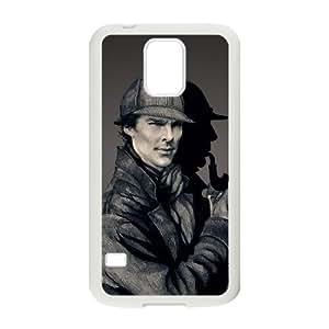C-EUR Customized Print Sherlock Hard Skin Case Compatible For Samsung Galaxy S5 I9600