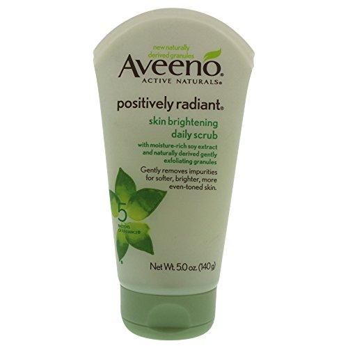 Aveeno Positively Radiant Skin Brightening Exfoliating Daily Scrub, 5 (Even Exfoliating Cleanser)