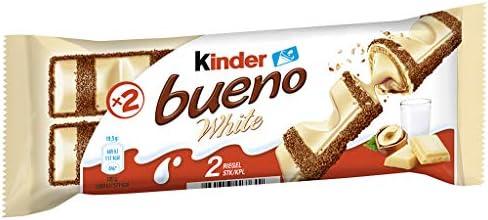 Kinder Bueno - White (Pack de 30 x 2 unidades): Amazon.es ...