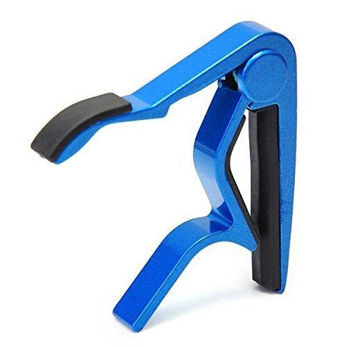 SODIAL(R) Capodastre Capo Pince Metal Metallique Bleu pour Guitare Guitar