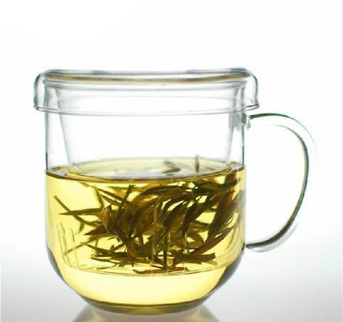 Green Teapot Lid (Moyishi Glass Teapot Tea Cup Glass with Infuser and Lid Green Tea Cup)