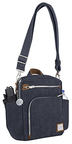 Travelon Anti-theft Heritage Tour Travel Totes, Messenger Bag, Handbag, Purse, Metal Charm Keychain ()