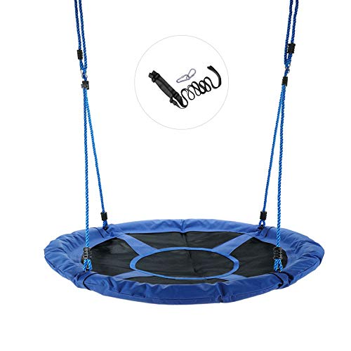 CO-Z Saucer Tree Swing Large 40'' Round Saucer Swing Set for Tree with Steel Frame and 2 Adjustable Hanging Straps