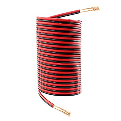SIM&NAT 50ft Red Black Hookup Wire, 18 AWG Audio Cable Electronic Cord for Radios and Led Light Applications ¡­