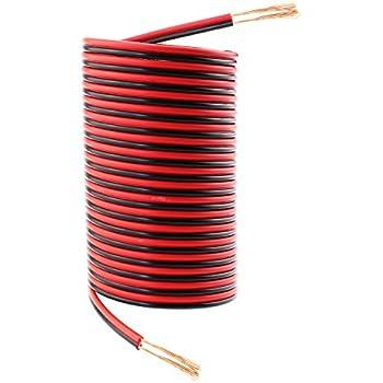 Amazon.com: 18 Gauge 50Ft Red Black Hookup Electrical Wire, SIM&NAT ...