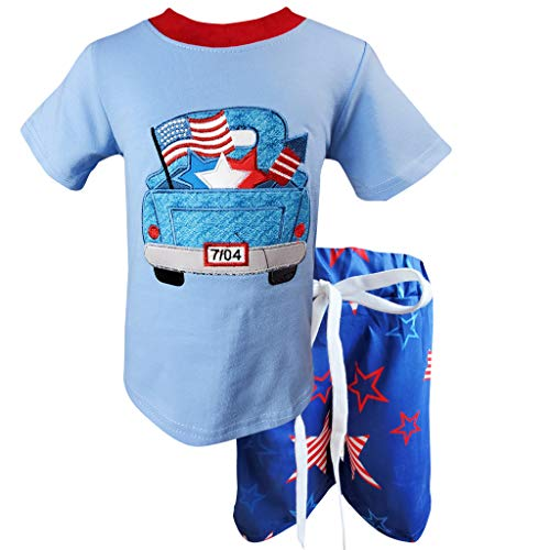 Boutique Toddler Boys July 4th Patriotic American Flag